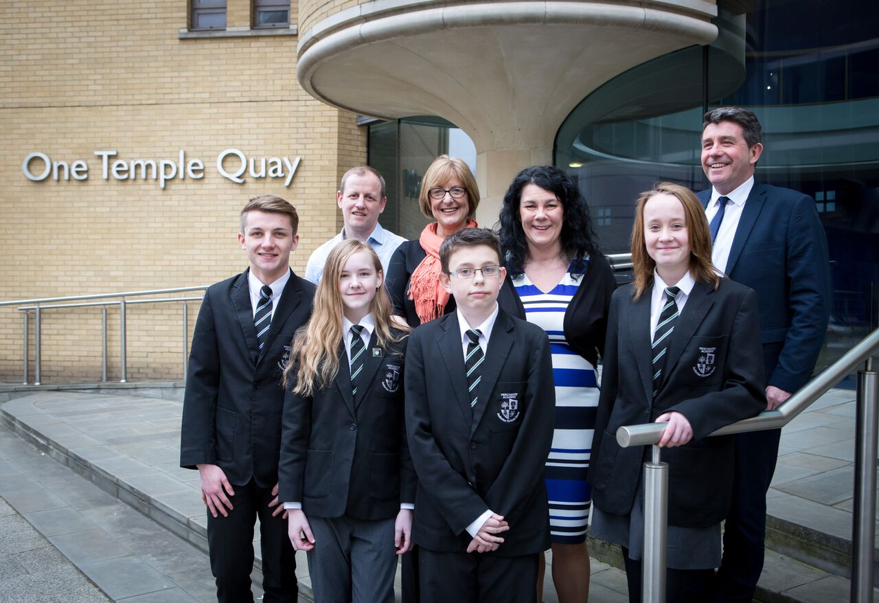 Merchants' Academy students pictures at Bank of Ireland